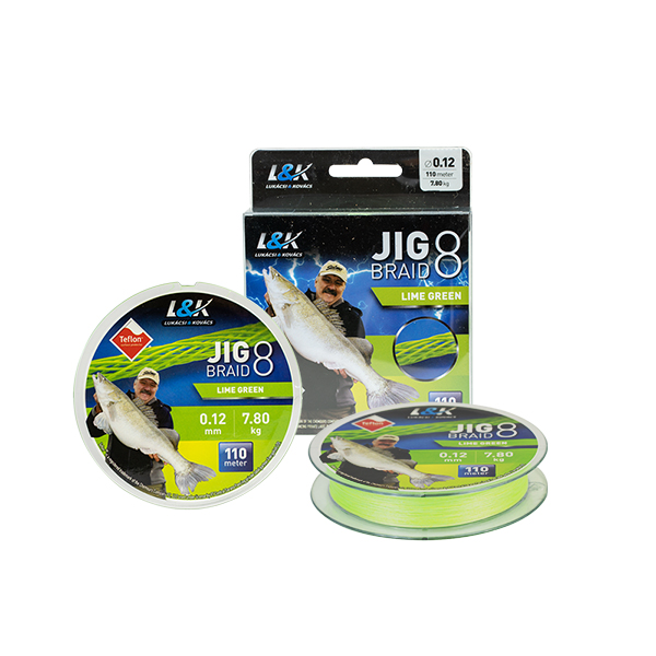 ZSINÓR L&K JIG BRAID 0,10MM 6.2 KG 110M LIME GREEN-2