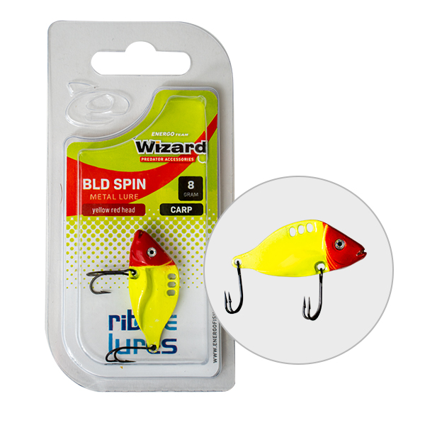 VILLANTÓ WIZARD BLD SPIN CARP 8GR WHITE RED HEAD-1