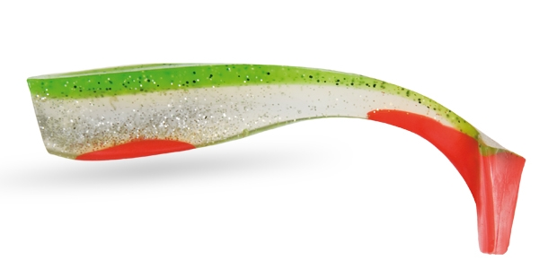 WIZARD ENERGY SHAD 5' GREEN/CLEAR/RED-1