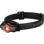 LEDLENSER MH5 outdoor tölthető LED fejlámpa 400lm/180m 1x14500 Li-ion, fekete/narancs