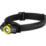 LEDLENSER MH5 outdoor tölthető LED fejlámpa 400lm/180m 1x14500 Li-ion, fekete/sárga