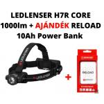LEDLENSER H7R Core tölthető fejlámpa 1000lm Li-ion + AJÁNDÉK  RELOAD 10 Ah POWER BANK