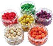 Bag em Micro Flouro Pop Up Boilies unflavoured 25ml white