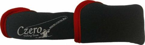 Czero állítható szivacsos botvédő kupak L, piros