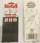 EuroCarp előkötött feeder előke csaliszigonnyal Master Carp-6 10cm 15lbs