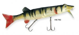 RAPTURE DANCER PIKE WOBBLER FIRE PIKE 20cm 70g