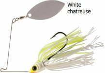 RAPTURE SHARP SPIN SINGLE WILLOW 14 g WHITE CHARTREUSE
