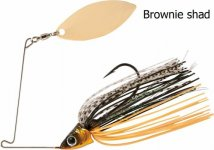 RAPTURE SHARP SPIN SINGLE WILLOW 14 g BROWNIE SHAD