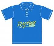 ** Rapture galléros póló XL azúrkék