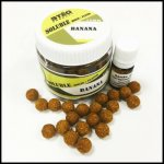 STÉG PRODUCT SOLUBLE BOILIE + FLAVOR 12 MM BANANA 90 G + 5 ML