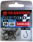 Trabucco Method Plus Feeder szakáll nélküli horog 10, 15 db/csg