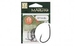 MARUTO HOROG 8714BL CARP HOOKS HC T.D.E.5° BARBLESS  BLACK NICKEL 6
