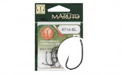 MARUTO HOROG 8714BL CARP HOOKS HC T.D.E.5° BARBLESS  BLACK NICKEL 8