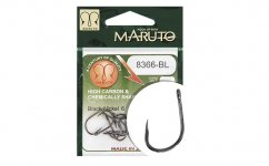 MARUTO HOROG 8366BL CARP HOOKS BARBLESS STRAIGHT EYE FORGED REVERSED RINGED HC  BLACK NICKEL 4