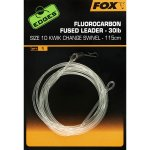 FOX FLUOROCARBON FUSED LEADER 30LB 75CM 7 SWIVEL