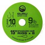 GURU QM1 STANDARD HAIR 15  SIZE 10 (0.22MM) 8DB