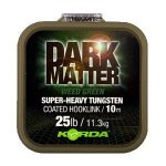 KORDA ELŐKEZSINÓR DARK MATTER TUNGSTEN COATED BRAID GRAVEL BROWN 25 LB 10 M