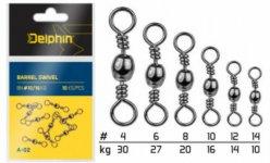 Delphin gömb forgó kapocs 4-12-es méretekben 10 db/csomag