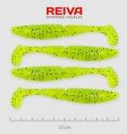 Reiva Zander Power Shad 10cm 4db/cs /Neonzöld-Flitter/ (9901-103)