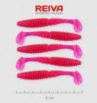 Reiva Zander Power Shad 8cm 5db/cs /Pink-Flitter/ (9901-805)