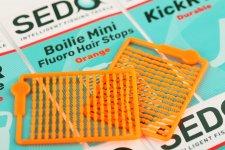 SEDO Boilie Mini Fluoro Hair Stops - Fluoro Rózsaszín