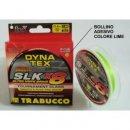 Trabucco Dyna-Tex Slk X8 Ss 150m 0.128 fonott zsinór lime zöld
