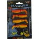 Rapture Slugger Shad Set 55 Flame Yellow 4+2db/csg, műcsali szett