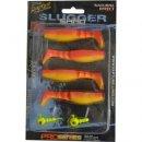 Rapture Slugger Shad Set 75 Flame Yellow 4+2db/csg, műcsali szett