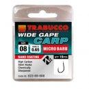 Trabucco Wide Gape Carp mikro szakállas horog 18 15 db