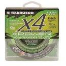 Trabucco Dyna-Tex X4 Power 150 m 0,165 mm lime sárga fonott zsinór