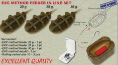 Extra Carp method Feeder Inline-kosár szett + töltő,forgók.