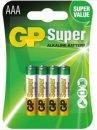 GP Super 24A LR03B4/AAA/4 DB BLISZ, mini ceruza elem
