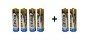 MAXELL LR06 AA (ceruza) elem bliszterben 4+2 db