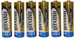 MAXELL LR06 AA (ceruza) elem zsugorfóliában 6 db