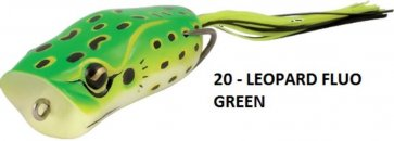 Rapture POPPER FROG 60mm 1/2oz(15g) LE FLUO GREEN, gumibéka