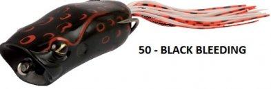 Rapture POPPER FROG 60mm 1/2oz(15g) BLACK BLEEDING, gumibéka