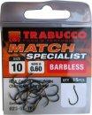 Trabucco Match Specialist szakáll nélküli horog 12, 15 db/csg