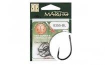 MARUTO HOROG 8355BL CARP HOOKS FORGED STRAIGHT EYE BARBLESS HC BLACK NICKEL 6